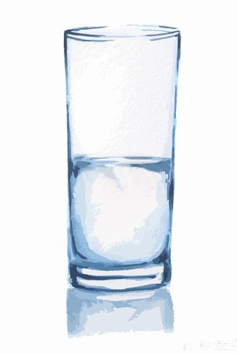 copo com água pela metade